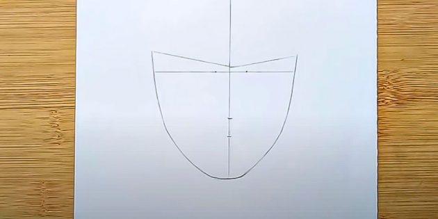 Как нарисовать лицо мужчины: нарисуйте контур лица