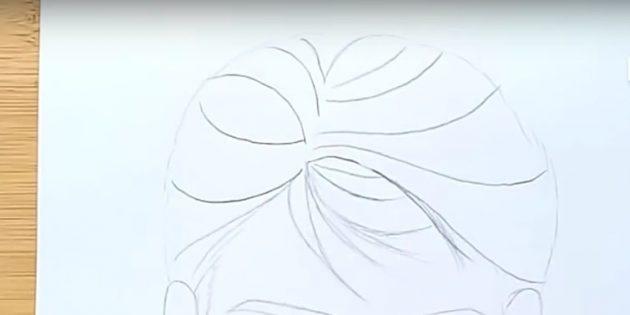 Как нарисовать лицо мужчины: нарисуйте чёлку