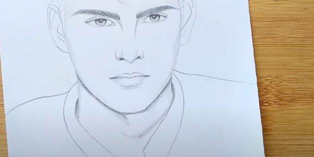 Как нарисовать лицо мужчины: добавьте теней