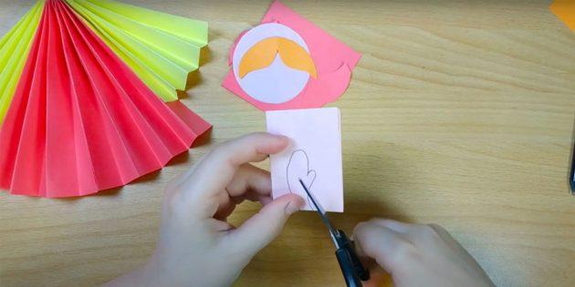 Кукла Масленица своими руками: нарисуйте и вырежьте ладошки