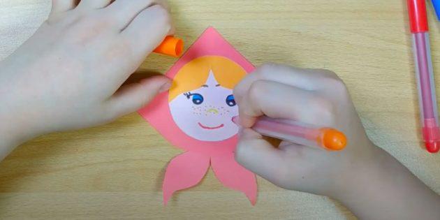 Кукла Масленица своими руками: нарисуйте лицо
