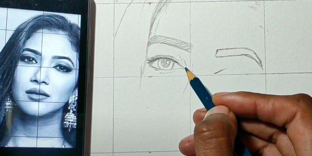 Как нарисовать лицо девушки: изобразите глаза