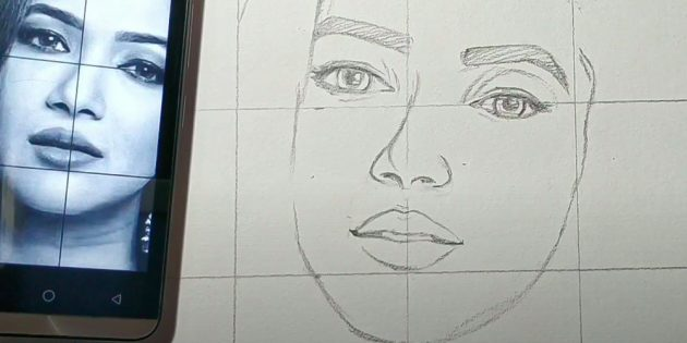 Как нарисовать лицо девушки: нарисуйте губы