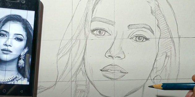 Как нарисовать лицо девушки: добавьте волосы и тени