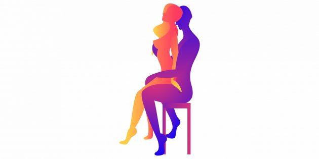 Секс на стуле: поза обратной наездницы