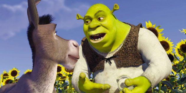 Кадр из мультфильма про любовь «Шрек»