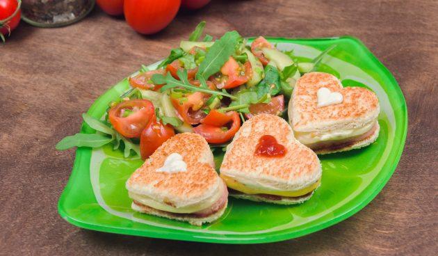 Горячие бутерброды на 14 февраля
