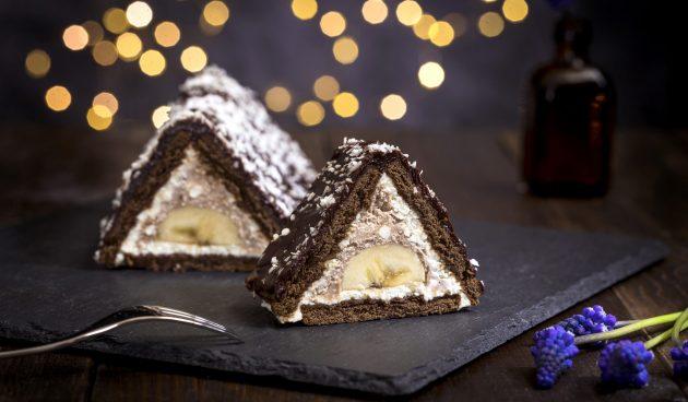 Торт из печенья «Творожный домик»