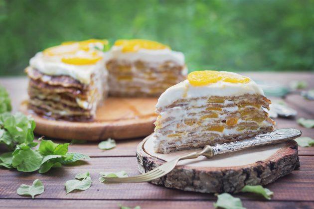 Блинный ПП-торт с сырно-творожным кремом