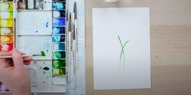 Как нарисовать подснежники: Нарисуйте стебельки
