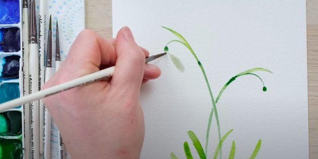 Нарисуйте каплевидный лепесток