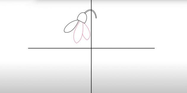 Как нарисовать подснежники: Нарисуйте два других лепестка