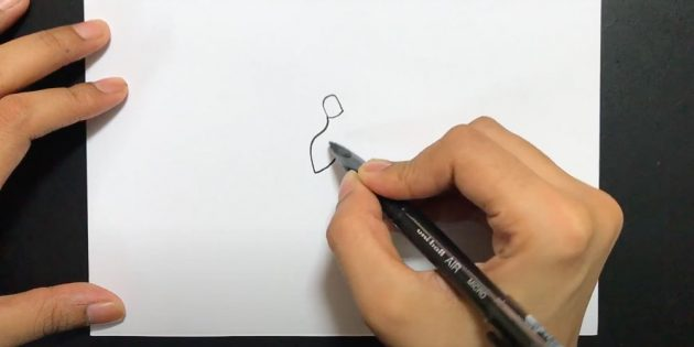 Как нарисовать подснежники: Нарисуйте левый лепесток