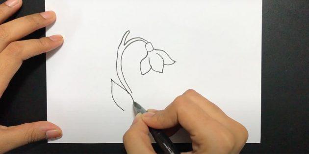 Нарисуйте листья
