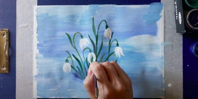Нарисуйте все лепестки цветов