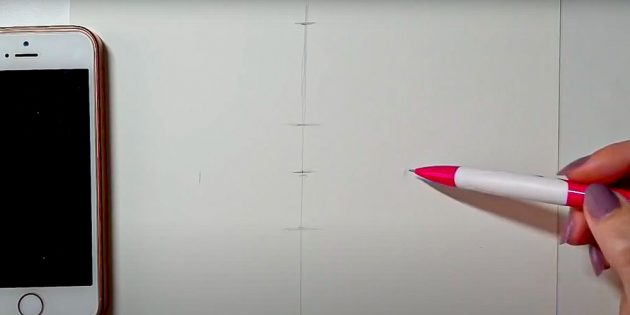 Как нарисовать лицо девушки: разделите лист на части