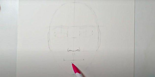Как нарисовать лицо девушки: прорисуйте кончик носа
