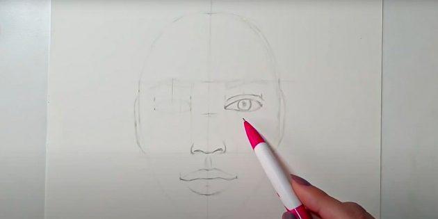 Как нарисовать лицо девушки: изобразите глаз