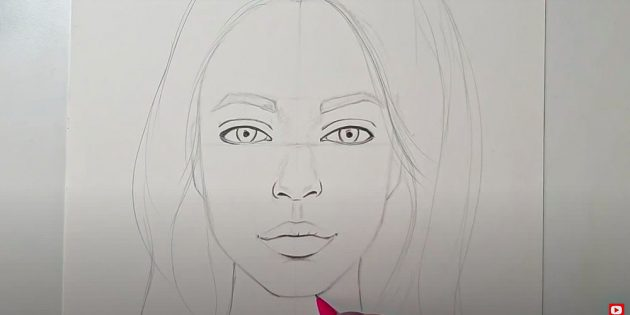 Как нарисовать лицо девушки: добавьте тени