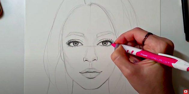 Как нарисовать лицо девушки: проработайте детали глаз