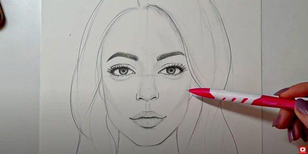 Как нарисовать лицо девушки: добавьте недостающих теней