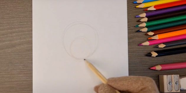 Как нарисовать волка: Обозначьте голову и мордочку