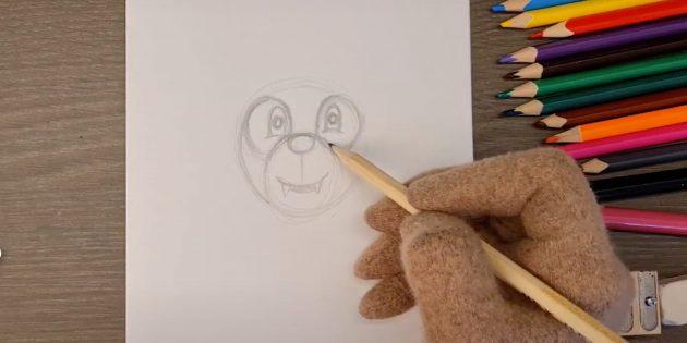 Как нарисовать волка: Изобразите глаза