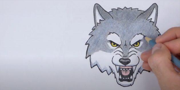 Мультяшная морда волка