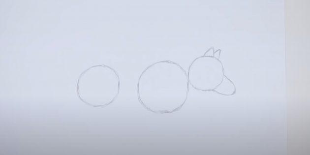 Как нарисовать волка: Наметье голову