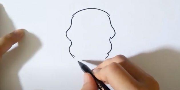 Наметьте голову слона