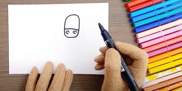 Как нарисовать лошадь: Нарисуйте голову
