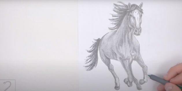 Реалистичная бегущая лошадь
