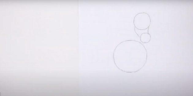 Как нарисовать лошадь: Наметьте мордочку