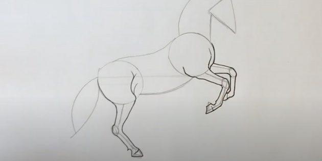 Как нарисовать лошадь: Прорисуйте ноги