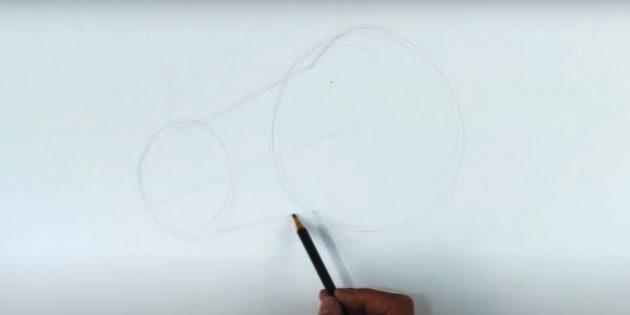 Как нарисовать лошадь: Наметьте морду