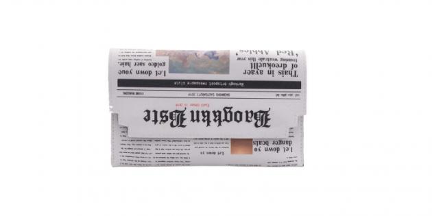 Необычные вещи: это не газета