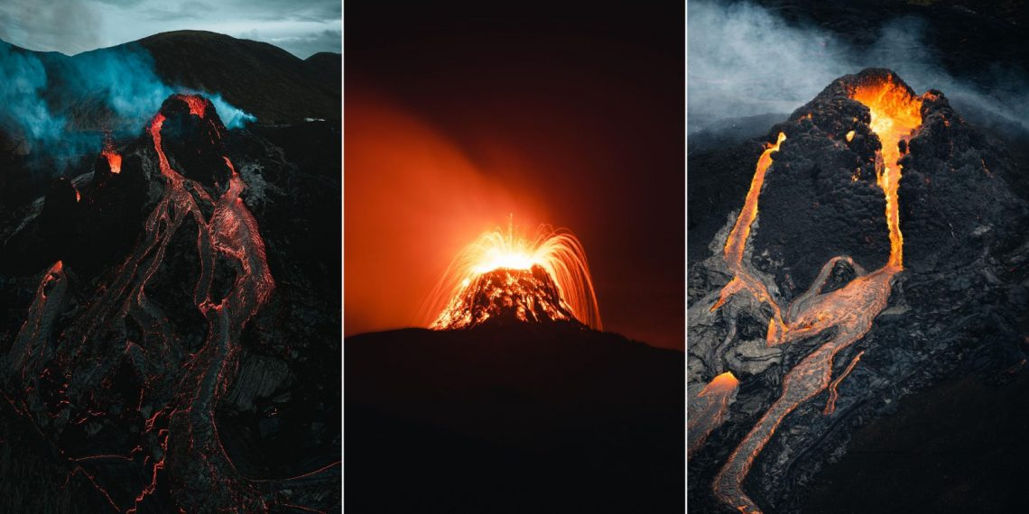 15 крутых фото извергающегося вулкана в Исландии