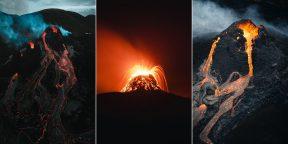 Он спал более 10 000 лет: 15 крутых фото извергающегося вулкана в Исландии