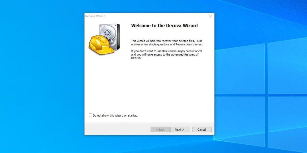 Как восстановить удалённые из «Корзины» файлы в Windows: запустите Recuva и нажмите Next