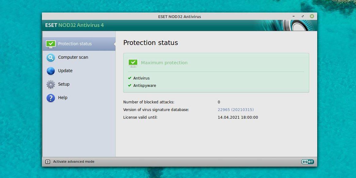 Антивирусы для Linux: ESET NOD32Antivirus for Linux Desktop