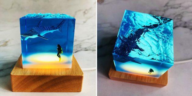 Необычные светильники с AliExpress: с акулой