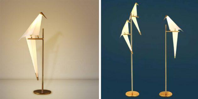 Необычные декоративные светильники с AliExpress: в виде птицы