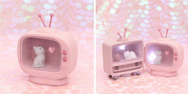 Необычные декоративные светильники с AliExpress: с котиком