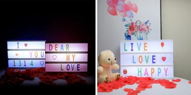 Необычные декоративные светильники с AliExpress: с буквами
