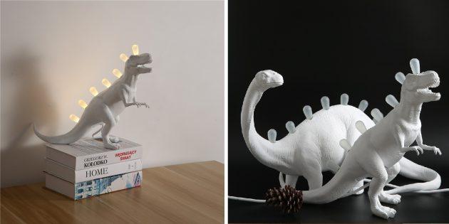 Необычные декоративные светильники с AliExpress: в виде динозавра