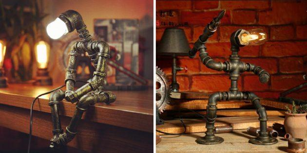 Необычные декоративные светильники с AliExpress: в виде робота