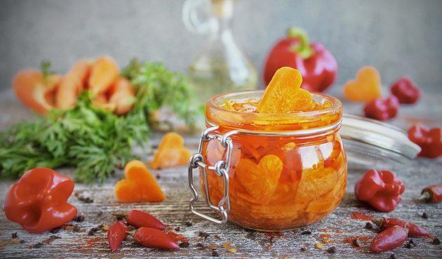 Быстрая маринованная морковь
