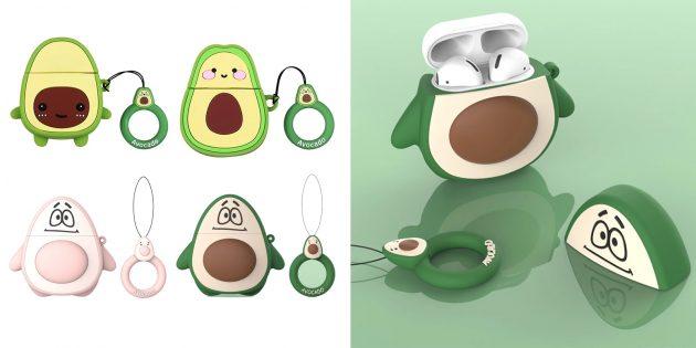 Чехлы для кейсов беспроводных наушников: в виде авокадо
