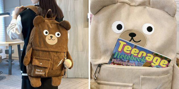 Необычный рюкзак в виде мишки