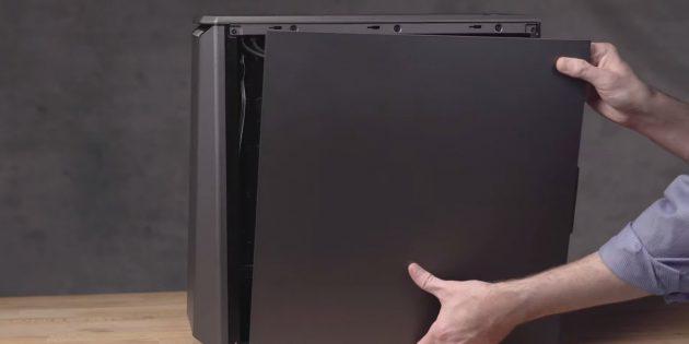 Как подключить SSD к стационарному компьютеру: установите крышку корпуса и подключите кабели